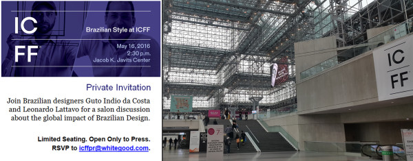 ICFF NY 2016 a convite Talk